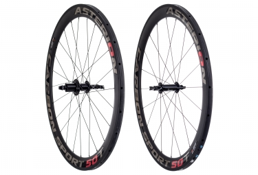 paire de roues asterion carbone sport 50t boyau corps campagnolo