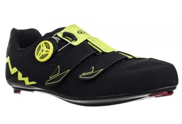 chaussures route northwave phantom carbon noir jaune