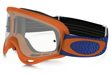 masque oakley o frame mx shockwave orange bleu transparent ref oo7029 25