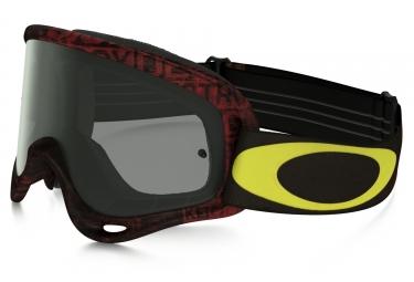 masque oakley o frame mx distress tagline noir rouge jaune fume ref oo7029 29