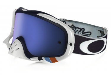 masque oakley crowbar mx tld corse blanc noir bleu iridium ref oo7025 43