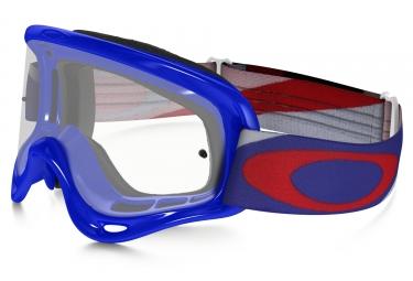 masque enfant oakley xs o frame mx heritage racer bleu rouge transparent ref oo7030