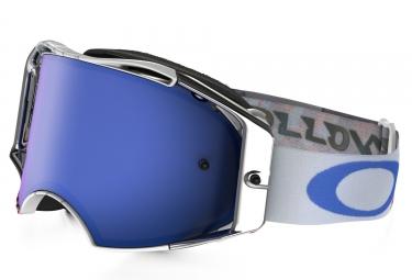 masque oakley airbrake mx high octane blanc bleu bleu iridium oo7046 25