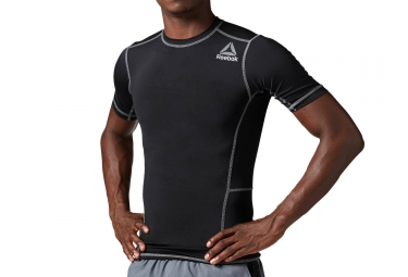 maillot de compression homme reebok workout ready noir