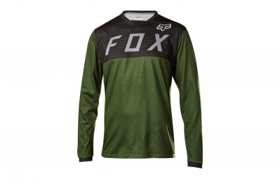 maillot manches longues fox indicator vert