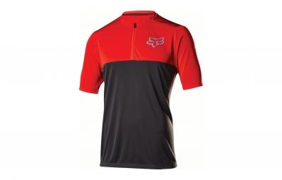 maillot manches courtes fox altitude rouge noir
