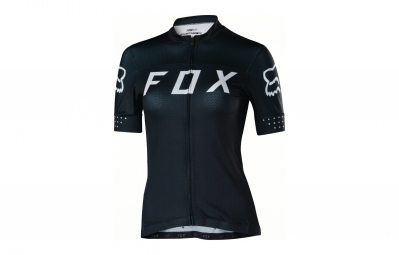 maillot manches courtes femme fox switchback noir blanc