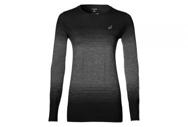 maillot manches longues femme asics fuzex performance noir