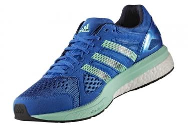 adidas running adizero tempo 8 bleu vert homme