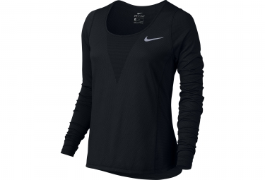 maillot manches longues femme nike zonal cooling relay noir