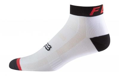 paire de chaussettes fox 4 logo trail blanc