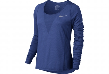 maillot manches longues femme nike zonal cooling relay bleu