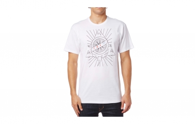 t shirt fox dormant blanc