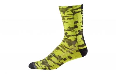 paire de chaussettes fox 8 creo trail jaune