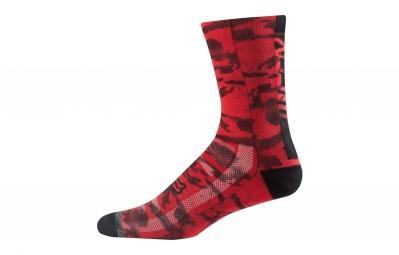 paire de chaussettes fox 8 creo trail rouge