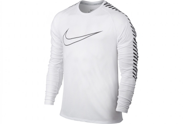 maillot maillot manches longues nike breathe blanc