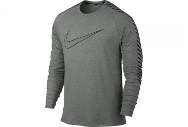 maillot maillot manches longues nike breathe gris