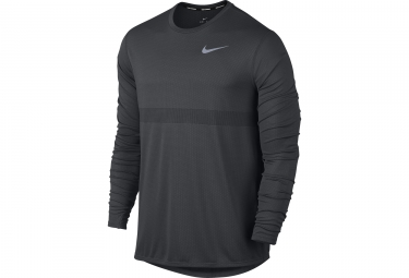 maillot manches longues nike zonal cooling relay gris