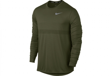 maillot manches longues nike zonal cooling relay vert