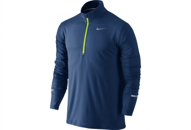 maillot manches longues nike dry element bleu