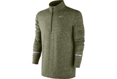 maillot manches longues nike dry element vert