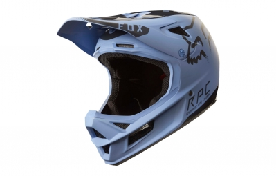 casque integral fox rampage pro carbon moth mips bleu noir