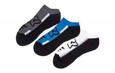x3 paires de chaussettes fox perf bleu gris blanc