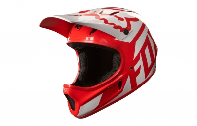 casque integral fox rampage race rouge blanc