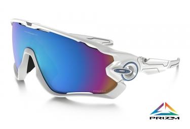 paire de lunettes oakley jawbreaker prizm snow blanc ref oo9290 21