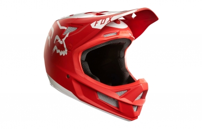 casque integral fox rampage pro carbon moth mips rouge blanc
