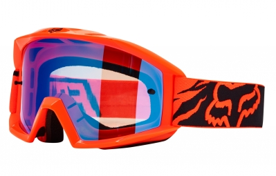 masque fox main race orange ecran bleu