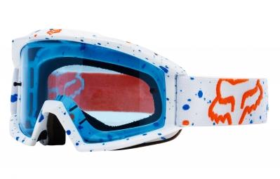 masque fox main nirv blanc ecran bleu