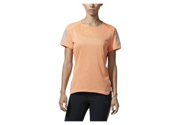 maillot manches courtes femme adidas running response orange