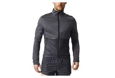 veste coupe vent impermeable adidas running adizero gris noir