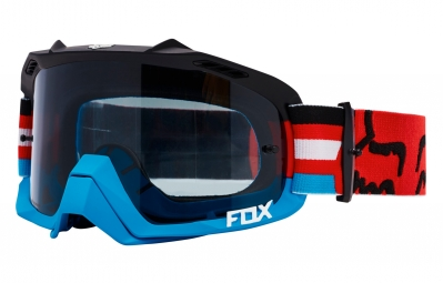 masque fox air defence seca noir bleu ecran transparent