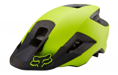 casque all mountain fox ranger jaune fluo mat