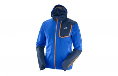 veste coupe vent salomon bonatti pro bleu