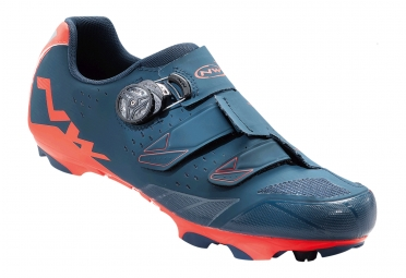 chaussures vtt northwave scream plus bleu orange