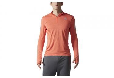 maillot manches longues demi zip adidas running response orange