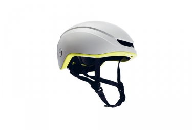 casque brooks island blanc jaune