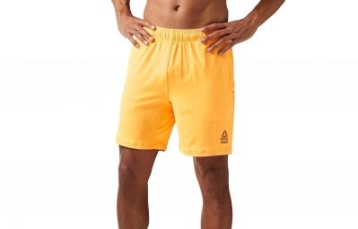 short homme reebok crossfit speedwick ii jaune
