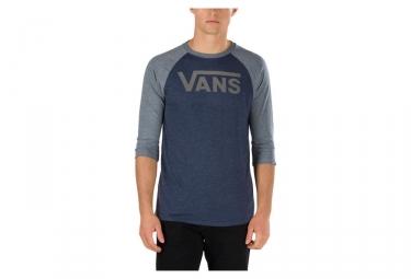 t shirt manches 3 4 vans classic bleu gris