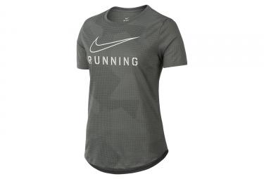 t shirt femme nike dry running gris noir blanc