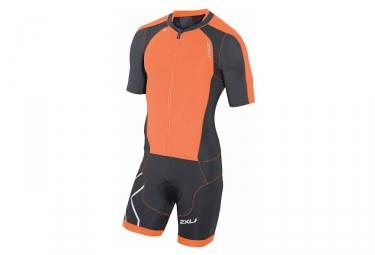 combinaison tri fonction 2xu trisuit noir orange