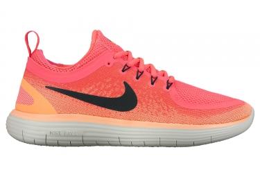 nike free run distance 2 femme rose orange