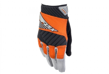 gants long fox digit orange