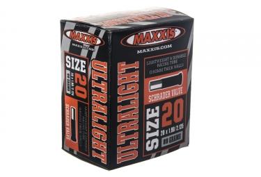 maxxis chambre a air ultralight 20 x 1 9 2 125 valve schrader