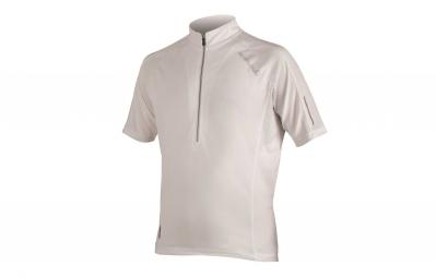 endura maillot manches courtes xtract blanc