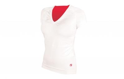 endura maillot manches courtes femme sport blanc rose