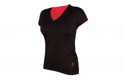 endura maillot manches courtes femme sport noir rose